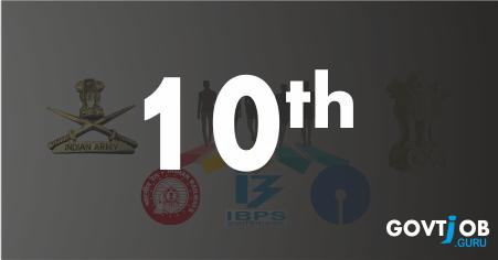 10th passed govt jobs