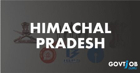Himachal Pradesh Govt Jobs