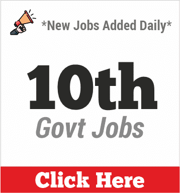 10th pass govt jobs