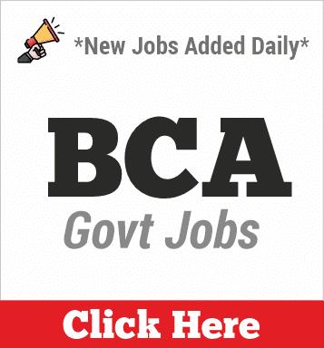 bca govt jobs