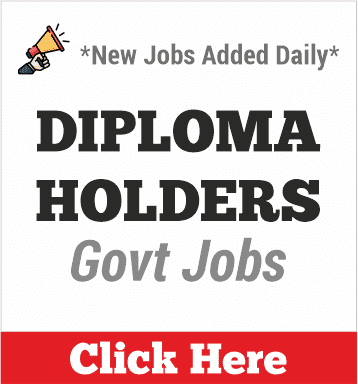 diploma holder govt jobs
