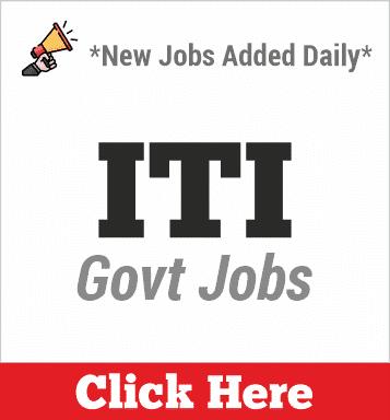 iti govt jobs