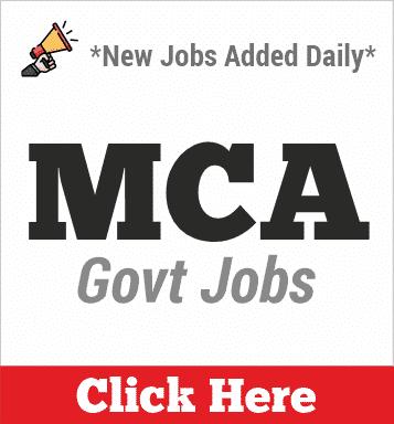 mca govt jobs