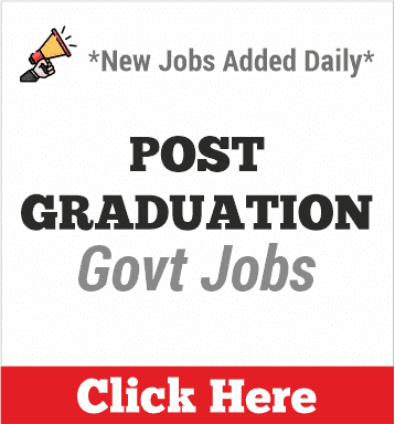 post graduation govt jobs