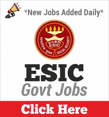 ESIC Jobs 2020