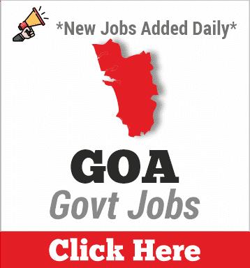 goa govt jobs