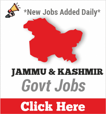jammu and kashmir govt jobs
