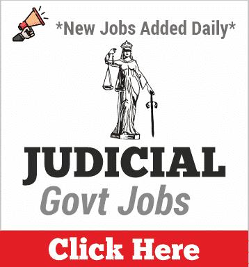 Judicial Jobs 2020