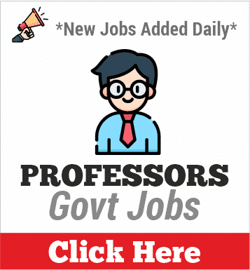 professors govt jobs