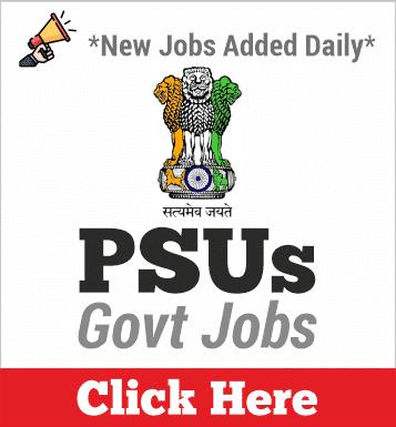 PSUs Jobs 2020