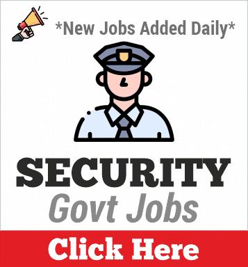 security govt jobs
