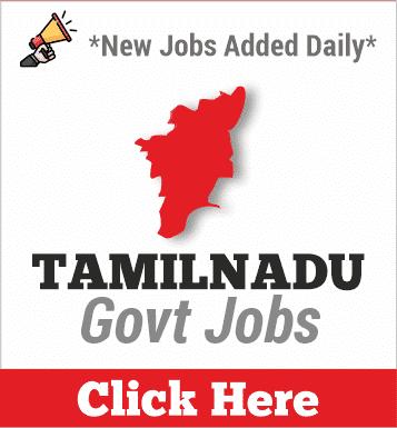 Tamilnadu Govt Jobs