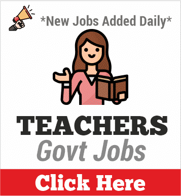 teachers govt jobs